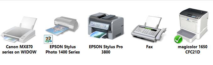 USB Epson Windows 8